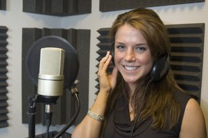 Singer 4: Amy singing in the recording studio