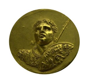 Golden ancient greek coin 2