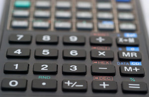 Numeric keyboard of calculator: Fingerboard of calculator