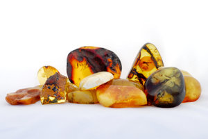 Stack of Baltic amber 2