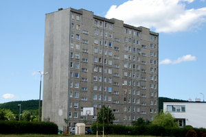 Old block of flats in Poland: Public housing from communism times