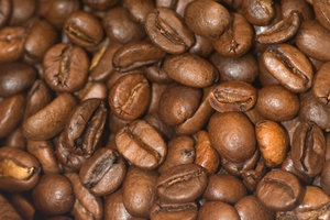Coffee beans 1: Beans of arabica roasted coffee