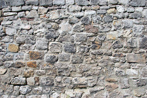 Romanesque stonewall in german: Wall from middle ages, Goslar, Germany