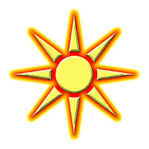 Sun pictogram 2: Star symbol