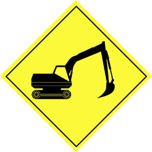 Traffic warning sign  6: Road sign