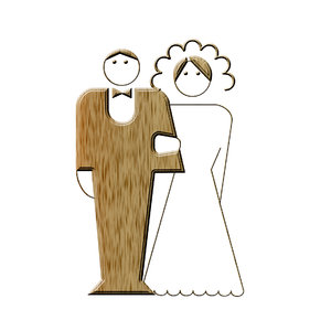 newly-weds pictogram 1: Wedding icon