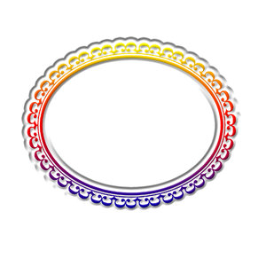 Horizontal oval frame 3