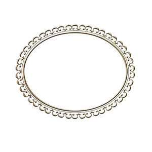 Horizontal oval frame 1