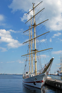 Polish tall ship  ISKRA in Gdy