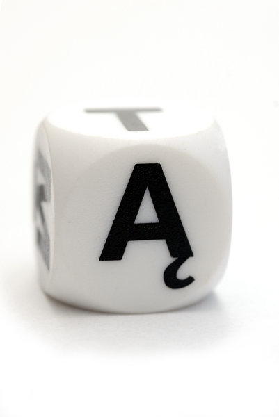 Dice with polish letter A