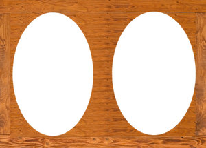 Wooden frame for oval images