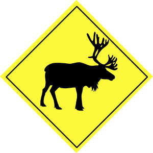 Warning sign - animal  4: Road sign 