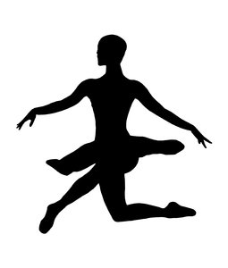 Ballet 2: Silhouette of dancing girl