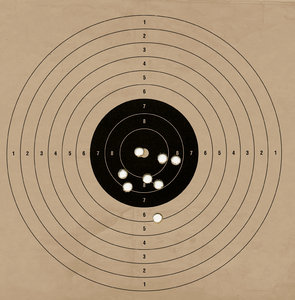 Target for shooter 1: Air pistol target
