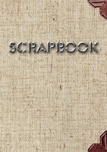 Cover of scrapbook 2: Linen cover with leather element