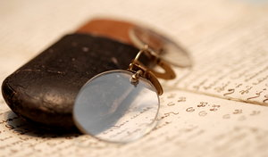 Pince-nez or vintage spectacle
