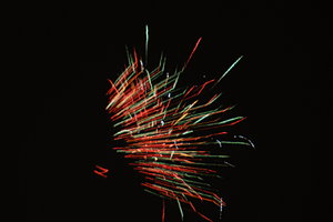 Night sky with fireworks 2