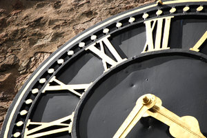 clock black church