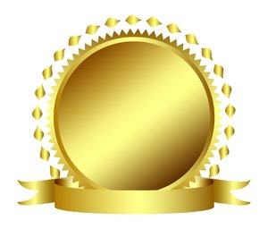 Gold Metal, Seal or Stamp with: Gold Metal, Seal or Stamp with banner