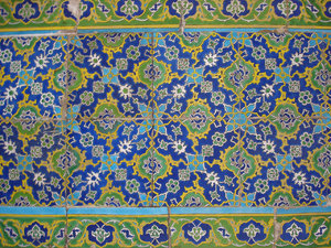 Topkapi tiles: detail from a tiled wall at Topkapi Palace, Istanbul