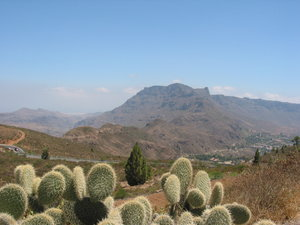 Gran Canaria Mountain landscap: View from the Spanish island Gran Canaria