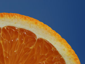 close-up of sliced orange