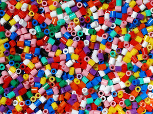 colored plastic beads texture: No description