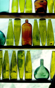 Wine Bottles in Window