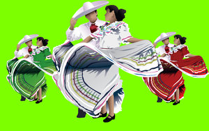 Folklorito Dancers: The green backdrop is meant to be selected and removed.  The vector file is available by request.