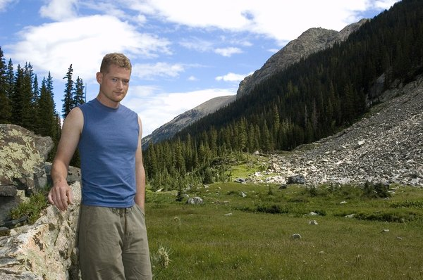 Steve: My younger brother Steven, taken while on a backpacking trip.  He's currently deployed in Bahrain.