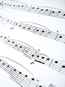 Sheet music perspective