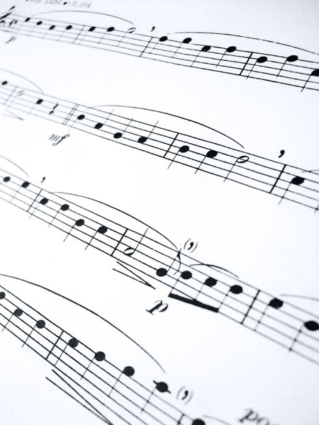 Sheet music perspective: sheet music