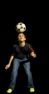 Dominando: My son Gabe (a.k.a Cristiano Ronaldo II) having his way with a footbal