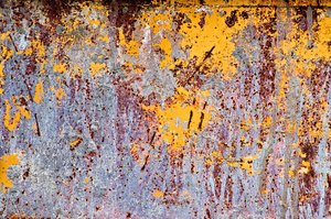 Paint texture: Paint texture from the side of a cement holding container.