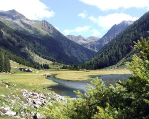 mountainlake: nice lake in rohrmoos near schladming in austria