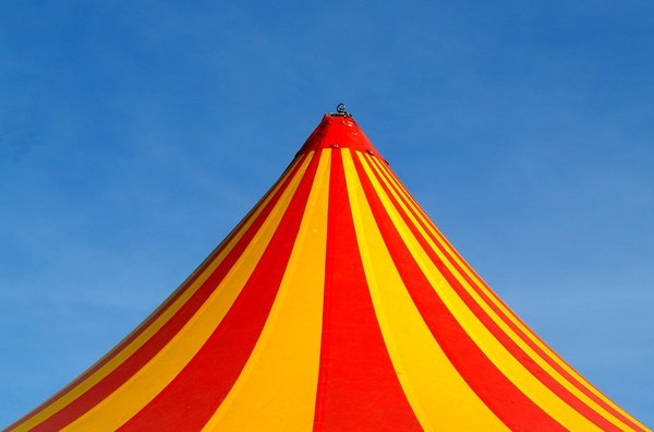 Circus is in town: The top of a circus
