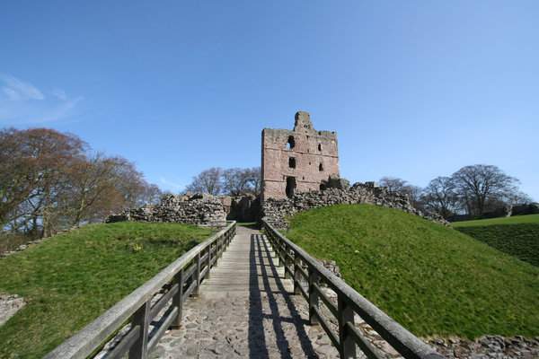 Norham Castle 5: Commanding a vital ford over the River Tweed, Norham was one of the strongest of the border castles, and the most often attacked by the Scots. Besieged at least 13 times – once for nearly a year by Robert Bruce – it was called 'the most dangerous an