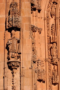 Stone Carving: Stone Carving detail on Salamanca Cathedral