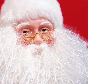 Checking the list: Santa needs his glasses to check the list... now who has been naughty?...and who has been nice?...