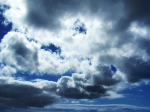Atmosphere: a piece of the sky in central city, Auckland, New Zealand