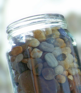 stones in the jam jar