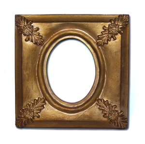 Painted gold frame