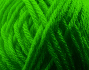 St Patrick's yarn: Green wool or yarn.  Part of it forms an X shape.  The Irish always love a yarn.