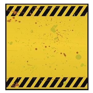 Warning Blank rusty warning Blank Danger Sign