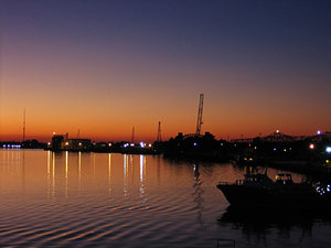 Harbor Eve: Evening over the harbor