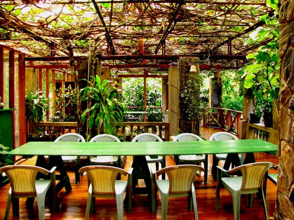 Tropical Lunch: A place to gather with friends and have a comfortable repast.