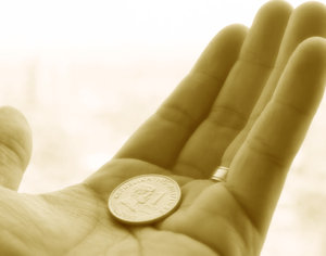 coin in hand: coin in hand...