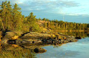 Yellowknife Reflections 3: Here are some morning 6am morning shots in August