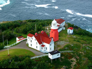 Newfoundland Coast: Long Point, Newfoundland Canada.  This picture was taken from a communication tower