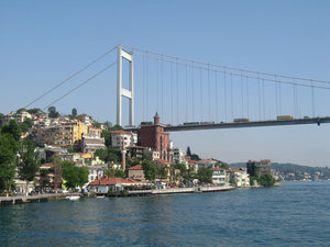 Fatih Sultan Mehmet Bridge: One of the two bridges that span the Bosporus, Istanbul